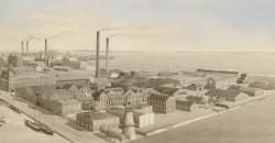 Complex van de fabrieken van de Delftse Nijverheid in Delft, circa 1914