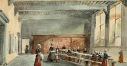 Linnenkamer van het Weeshuis der Gereformeerden aan de Oude Delft, ca. 1870 door C.J. Behr